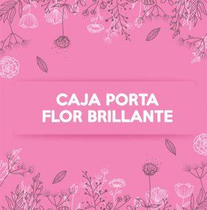 CAJA PORTA FLOR BRILLANTE