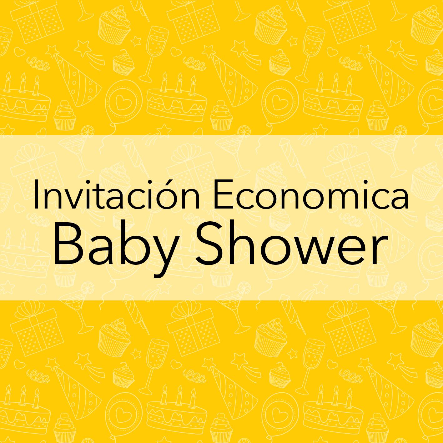 INVITACIÓN ECONOMICA BABY SHOWER