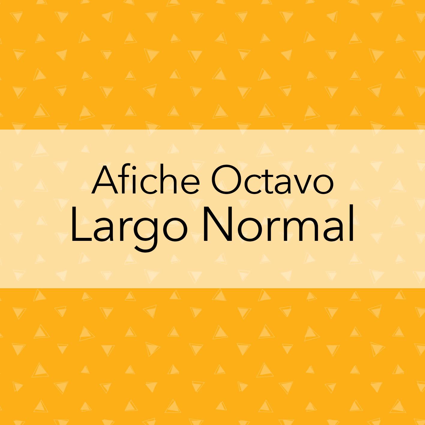 AFICHE OCTAVO LARGO NORMAL