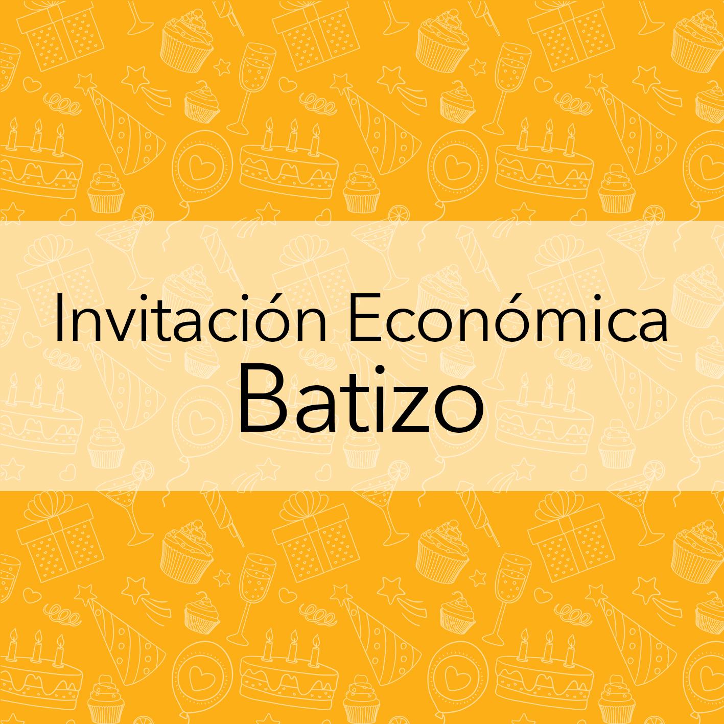 INVITACIÓN ECONOMICA BAUTIZO