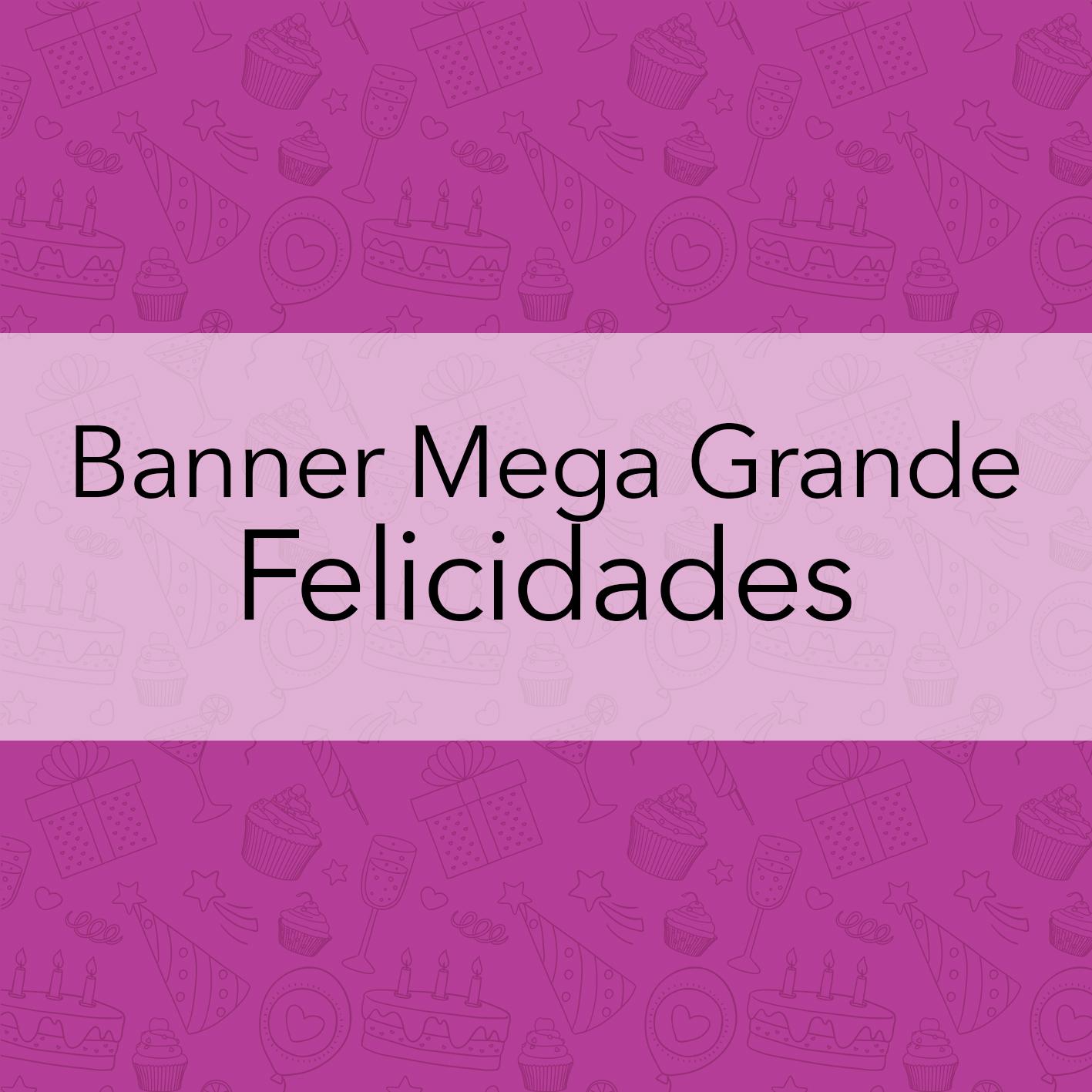 BANNER MEGA GRANDE FELICIDADES
