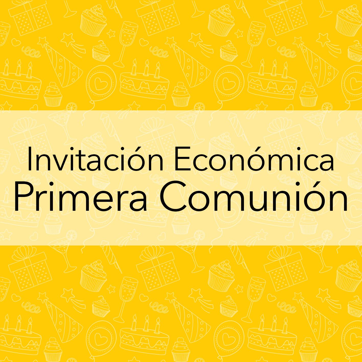 INVITACIÓN ECONOMICA PRIMERA COMUNION
