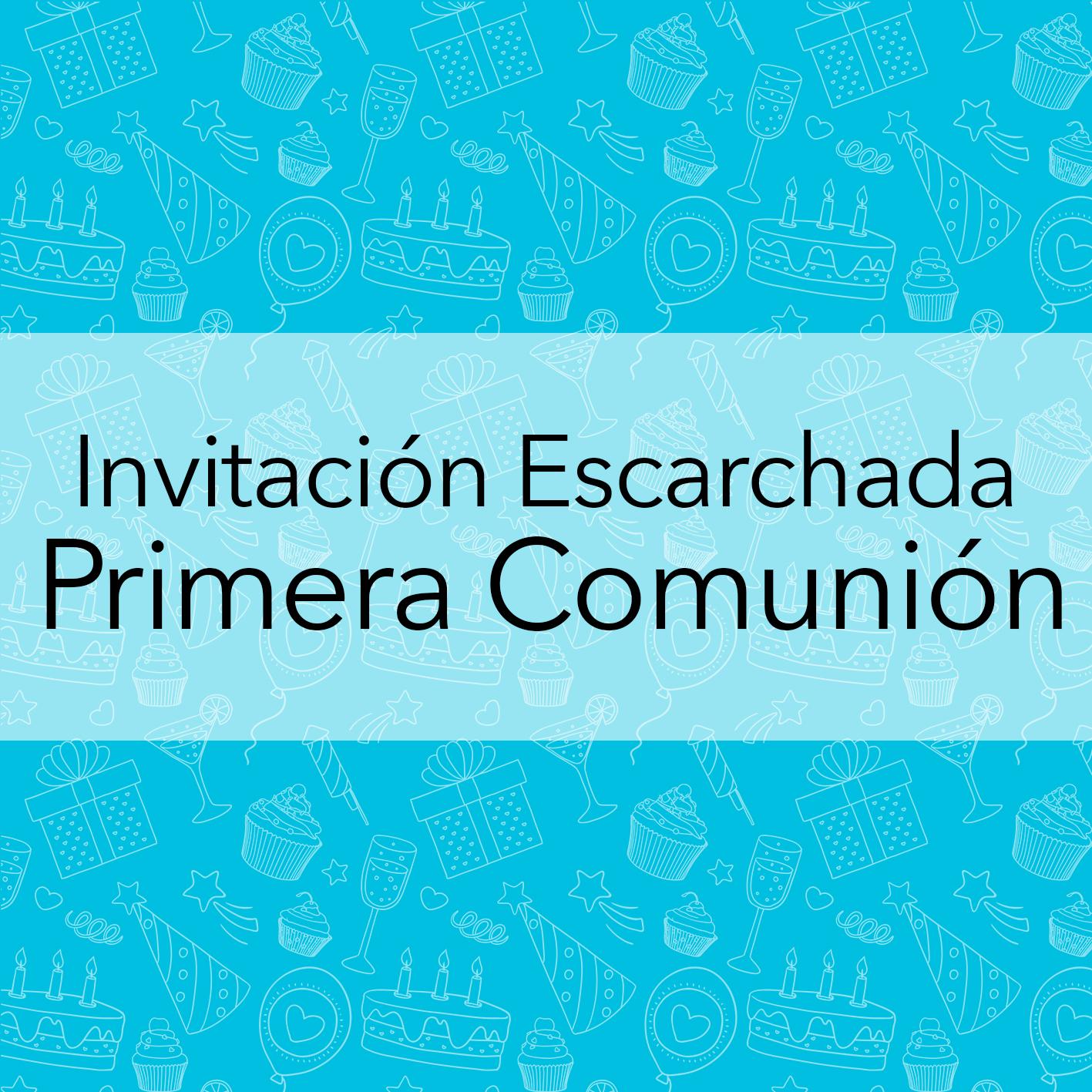 INV. ESCARCHADA U HOLOGRAFICA PRIMERA COMUNION