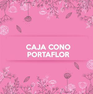 CAJA CONO PORTA FLOR